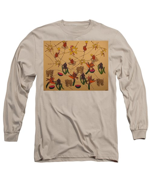 Long Sleeve T-Shirt featuring the painting Almost Paradise by Erika Chamberlin