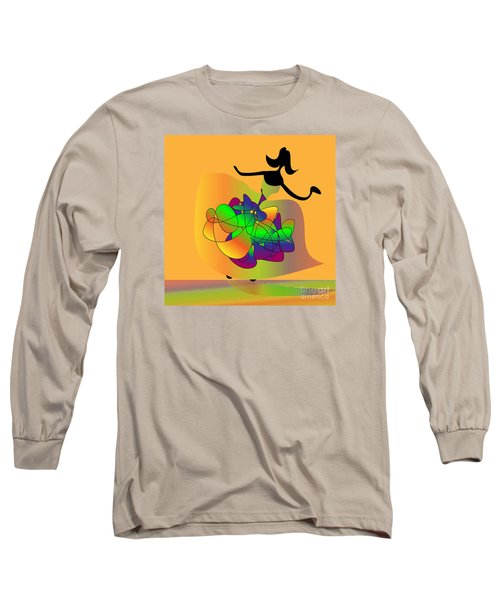 Long Sleeve T-Shirt featuring the digital art At The Prom by Iris Gelbart