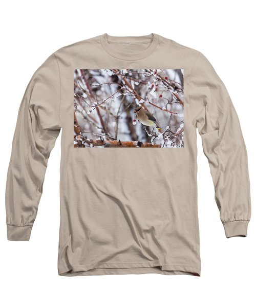 Cedar Waxwing Long Sleeve T-Shirt