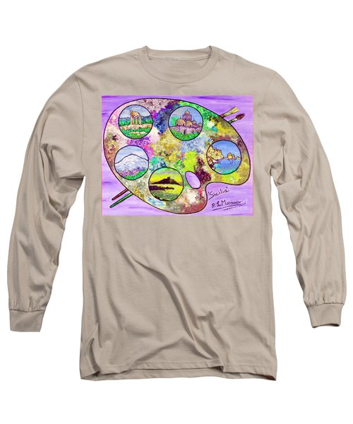 Sicily On A Palette Long Sleeve T-Shirt