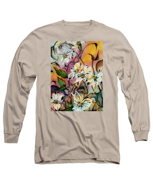 Dance Of The Dogwoods Long Sleeve T-Shirt by Lil Taylor