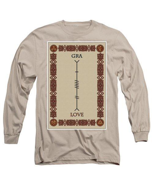 Love Written In Ogham Long Sleeve T-Shirt