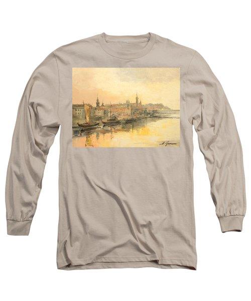 Old Warsaw - Wisla River Long Sleeve T-Shirt