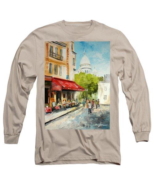 Paris Cafe Long Sleeve T-Shirt
