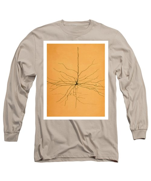Pyramidal Cell In Cerebral Cortex, Cajal Long Sleeve T-Shirt