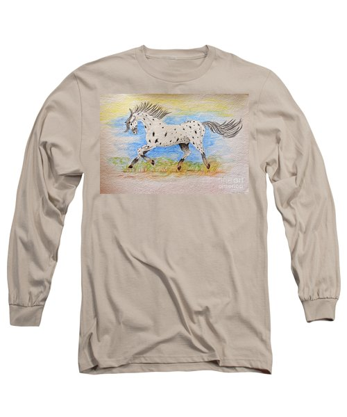 Running Free Long Sleeve T-Shirt by Debbie Portwood