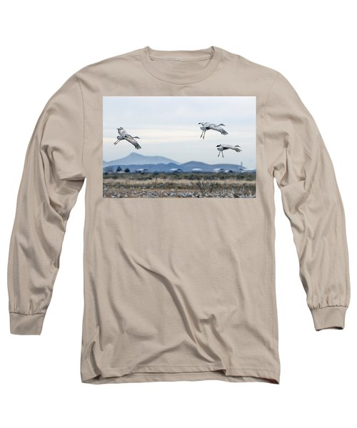 Sandhill Cranes Long Sleeve T-Shirt by Tam Ryan