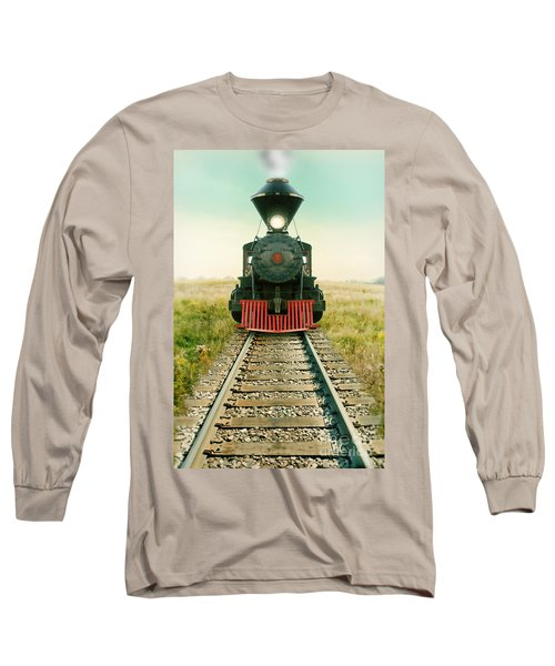 Vintage Train Engine Long Sleeve T-Shirt by Jill Battaglia