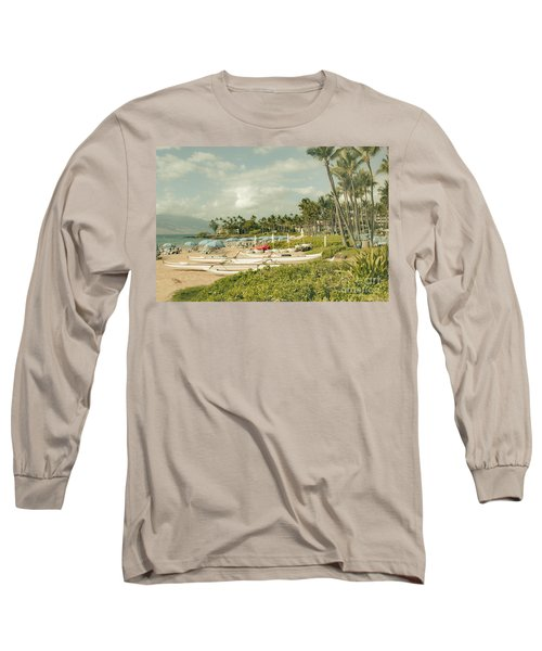 Wailea Beach Maui Hawaii Long Sleeve T-Shirt by Sharon Mau