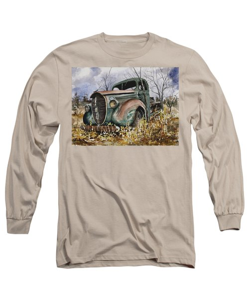 39 Ford Truck Long Sleeve T-Shirt by Sam Sidders