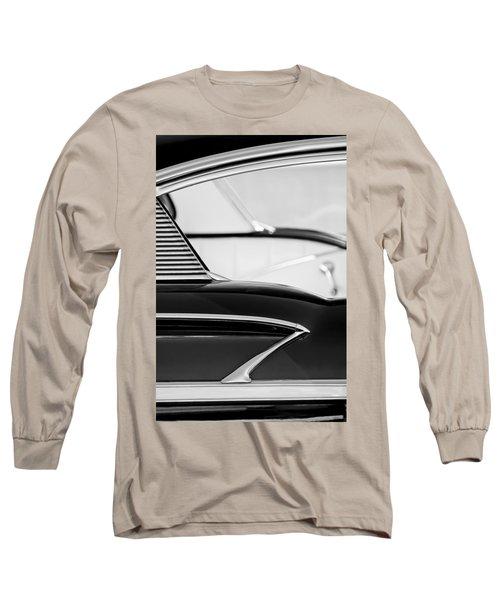 1958 Chevrolet Belair Abstract Long Sleeve T-Shirt