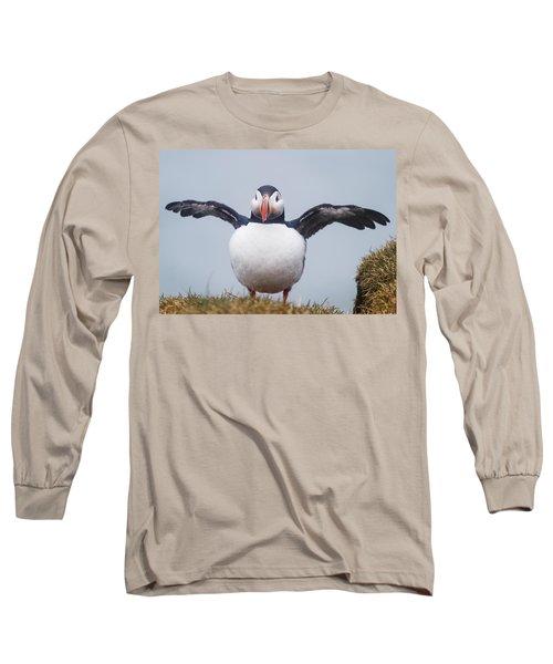 Atlantic Puffin Fratercula Arctica Long Sleeve T-Shirt