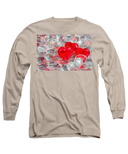 Crystal Heart Long Sleeve T-Shirt