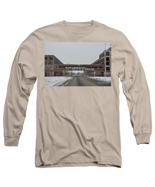 Detroit Packard Plant Long Sleeve T-Shirt by Randy J Heath