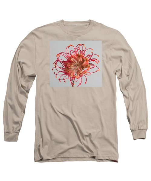 Grevillea Flower Long Sleeve T-Shirt by Shirley Mitchell