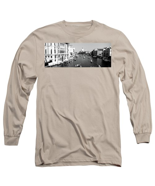 High Angle View Of Gondolas In A Canal Long Sleeve T-Shirt