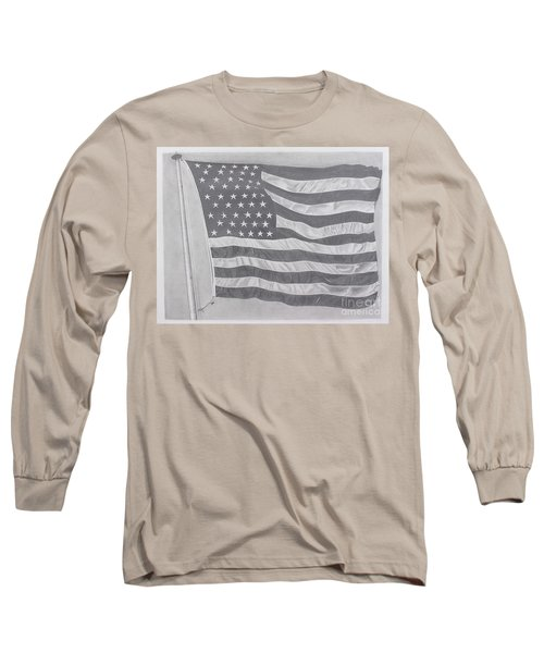Long Sleeve T-Shirt featuring the pastel 50 Stars 13 Stripes by Wil Golden