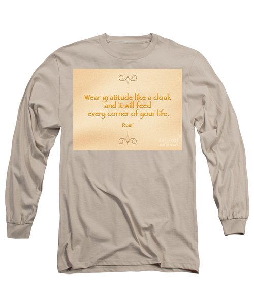 54- Rumi Long Sleeve T-Shirt by Joseph Keane