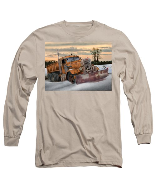 '55 Pete Snowplow Long Sleeve T-Shirt by Stuart Swartz