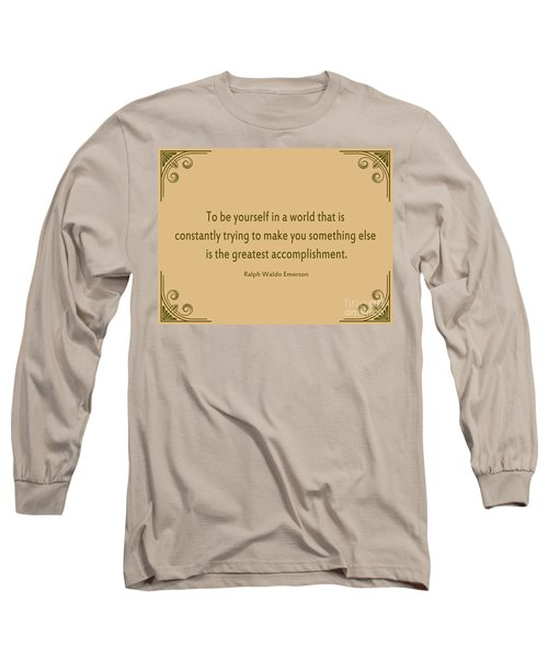 58- Ralph Waldo Emerson Long Sleeve T-Shirt by Joseph Keane