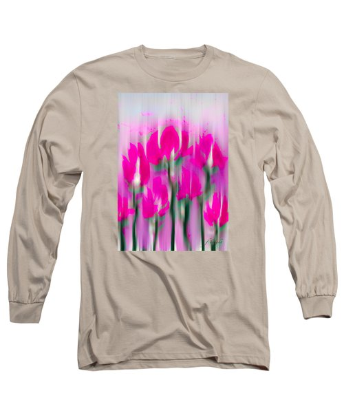 Long Sleeve T-Shirt featuring the digital art 6 1/2 Flowers by Frank Bright