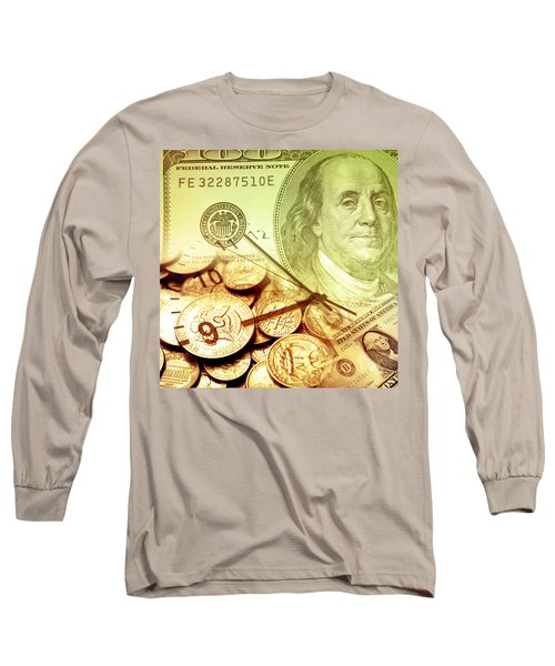 Time Is Money Concept Long Sleeve T-Shirt