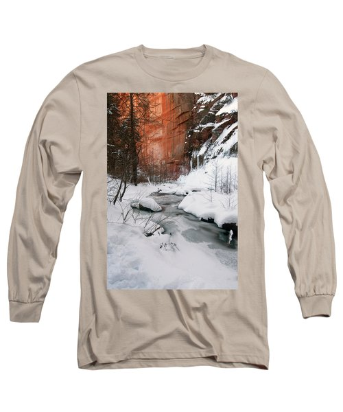 16x20 Canvas - West Fork Snow Long Sleeve T-Shirt by Tam Ryan