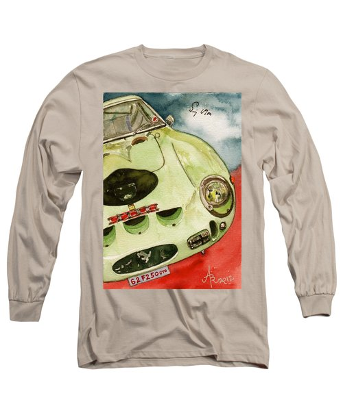 62 Ferrari 250 Gto Signed By Sir Stirling Moss Long Sleeve T-Shirt by Anna Ruzsan
