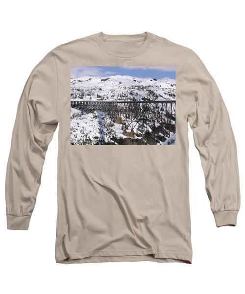A Bridge In Alaska Long Sleeve T-Shirt by Brian Williamson