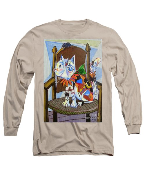 A Cat For Picasso_ Chat Et Souris Long Sleeve T-Shirt