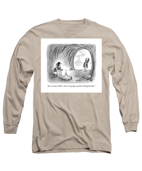 A Cavewoman Sits By The Fire And Speaks Long Sleeve T-Shirt