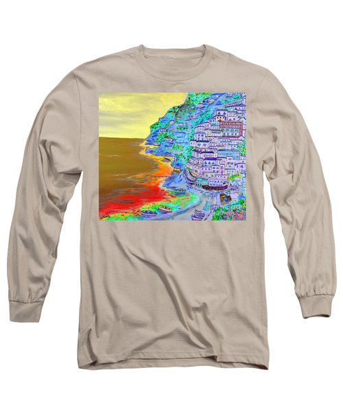 A Coastal View Of Positano Long Sleeve T-Shirt