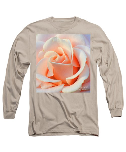 A Delicate Rose Long Sleeve T-Shirt by Cindy Manero