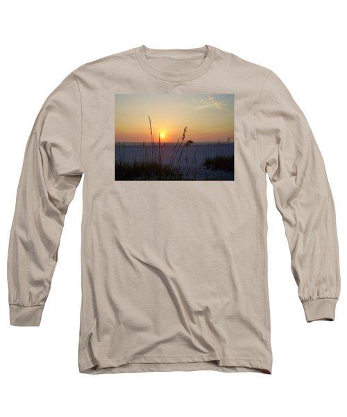 A Florida Sunset Long Sleeve T-Shirt by Cynthia Guinn