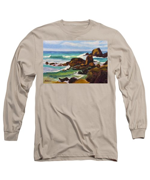 Long Sleeve T-Shirt featuring the painting A Frouxeira Galicia by Pablo Avanzini
