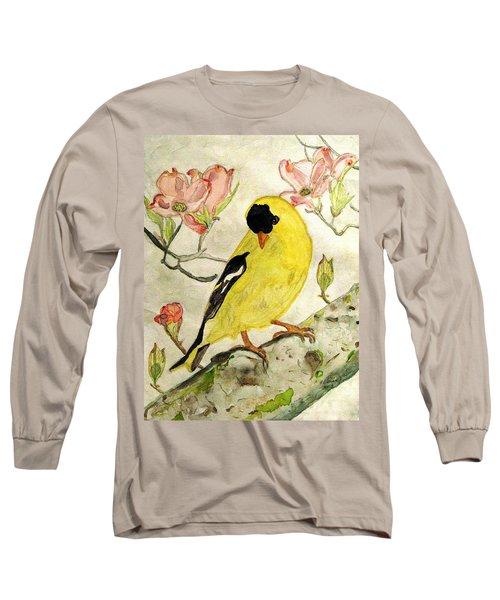 A Goldfinch Spring Long Sleeve T-Shirt