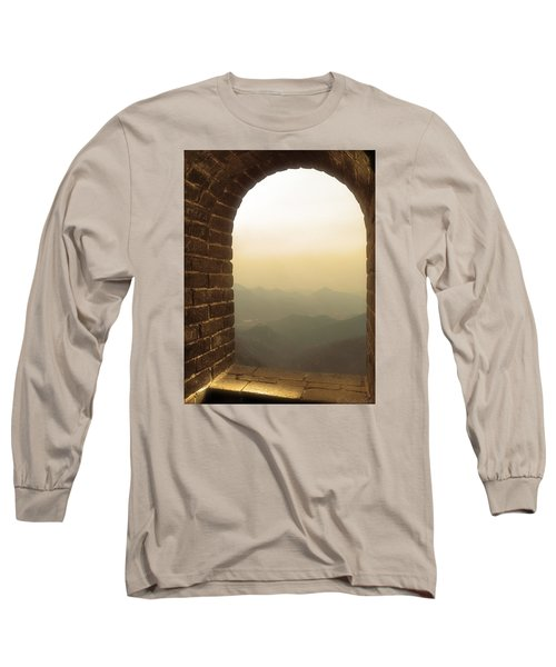 A Great View Of China Long Sleeve T-Shirt by Nicola Nobile