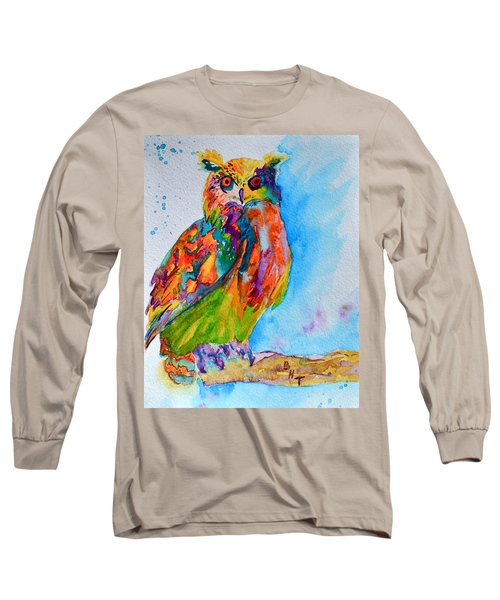 A Hootiful Moment In Time Long Sleeve T-Shirt by Beverley Harper Tinsley