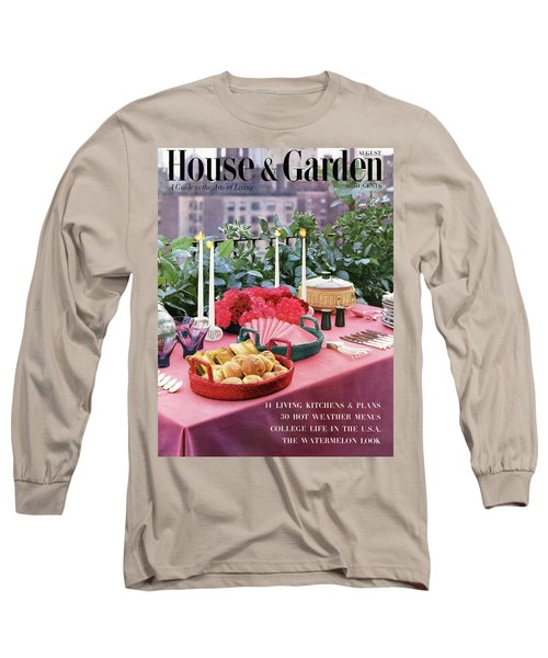 A House And Garden Cover Of Al Fresco Dining Long Sleeve T-Shirt