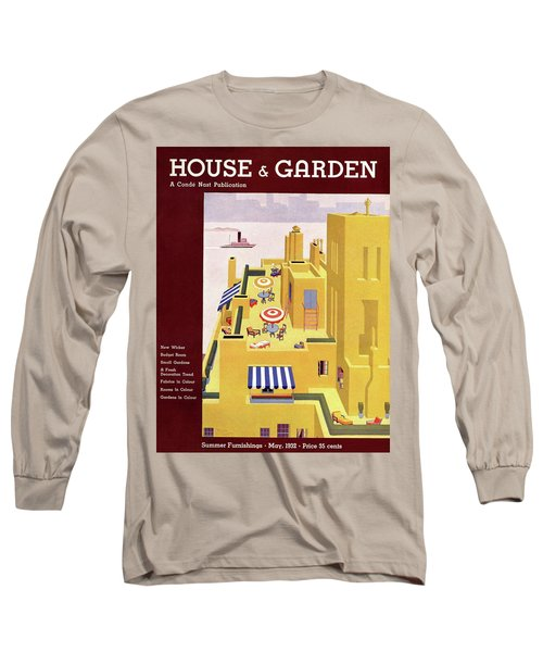 A House And Garden Cover Of An Apartment Building Long Sleeve T-Shirt
