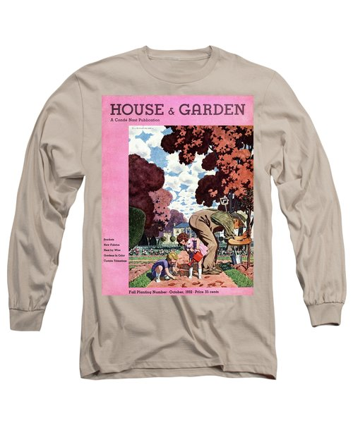 A House And Garden Cover Of People Gardening Long Sleeve T-Shirt