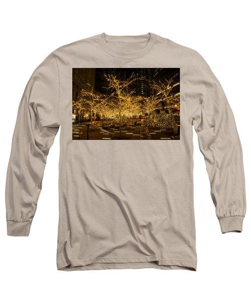 A Little Golden Garden In The Heart Of Manhattan New York City Long Sleeve T-Shirt