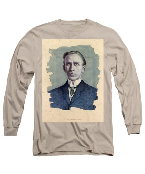 Long Sleeve T-Shirt featuring the painting A Man Who Used To Be Somebody To Someone by James W Johnson