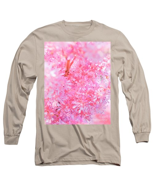 A Natural Pink Bouquet Long Sleeve T-Shirt by David Perry Lawrence