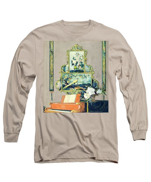 A Painting Of A House Interior Long Sleeve T-Shirt