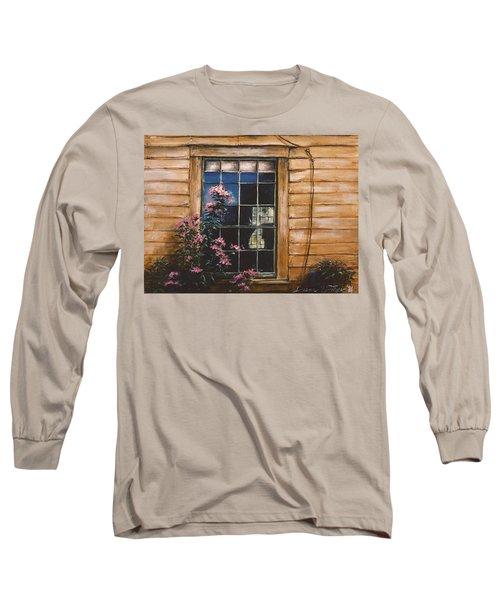 A Peek Through The Window Long Sleeve T-Shirt