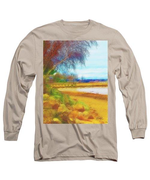A Rocky Beach Long Sleeve T-Shirt