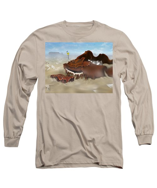 A Slow Death In Piano Valley - Panoramic Long Sleeve T-Shirt
