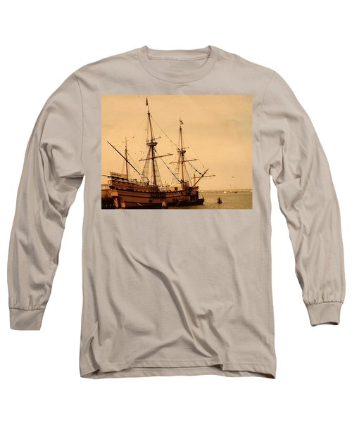 A Small Old Clipper Ship Long Sleeve T-Shirt