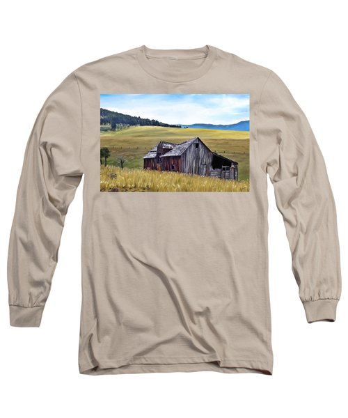 A Time In Montana Long Sleeve T-Shirt by Susan Kinney